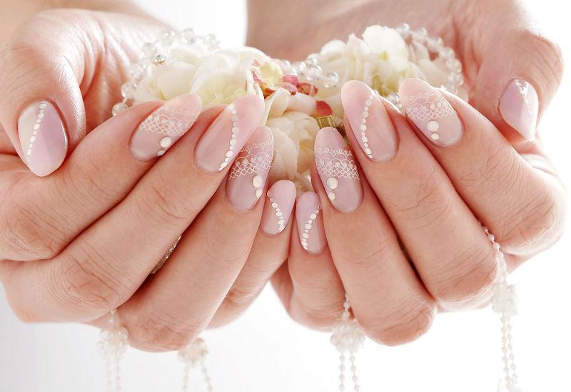 Круглый дизайн ногтей фото