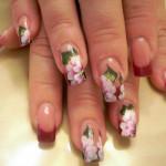 Необычная роспись на ногтях