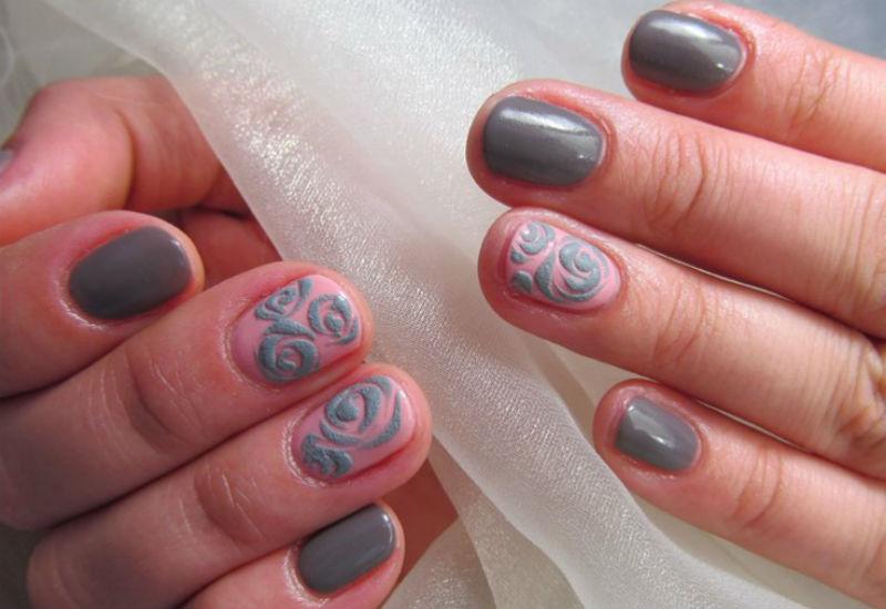 Зеркальные Ногти С Рисунком