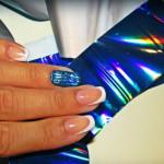 Синяя термопленка для ногтей