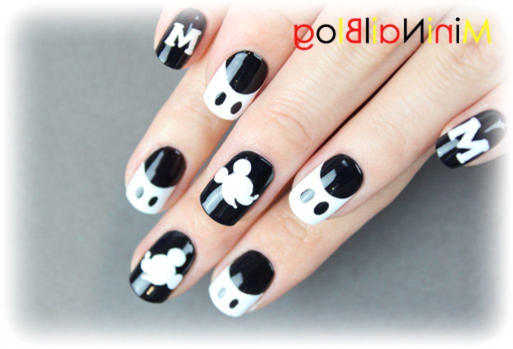 Фото микки маус на ногтях