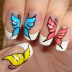 Бабочки в маникюре