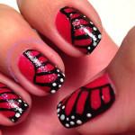 Крылья бабочки в маникюре