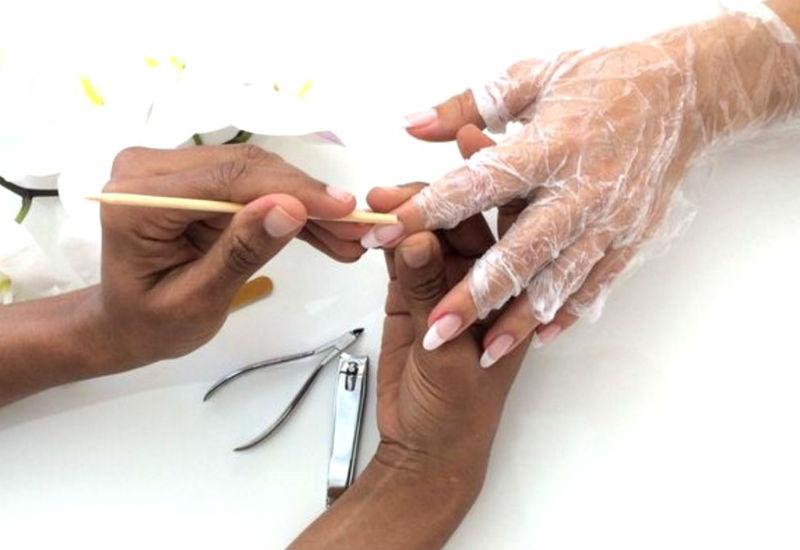 Обработка ногтей апельсиновой палочкой