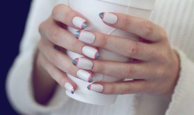Дизайн ногтей френч.