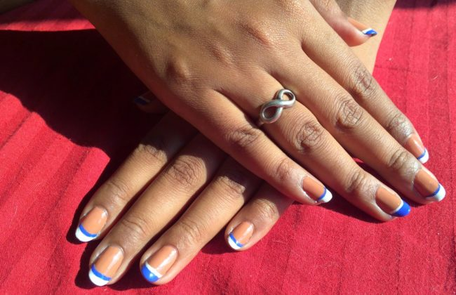 Летний дизайн ногтей френч.
