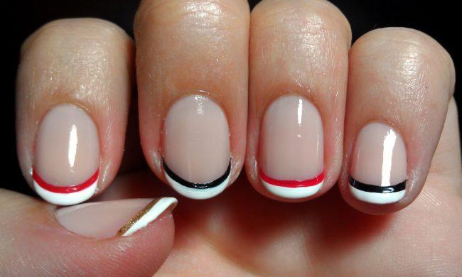 Дизайн ногтей дабл френч