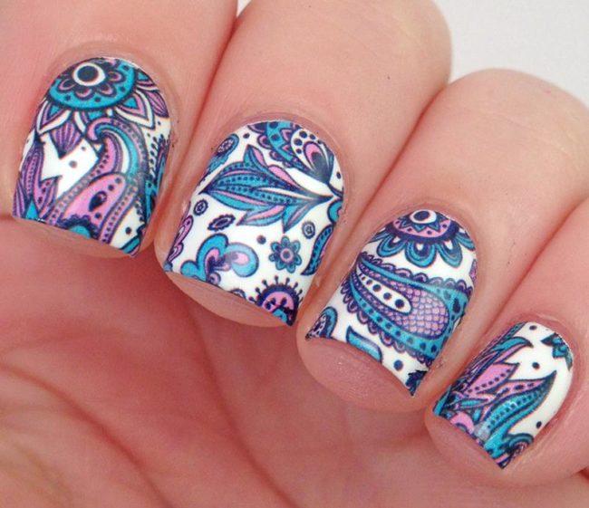 Кружевной слайдер дизайн для ногтей.