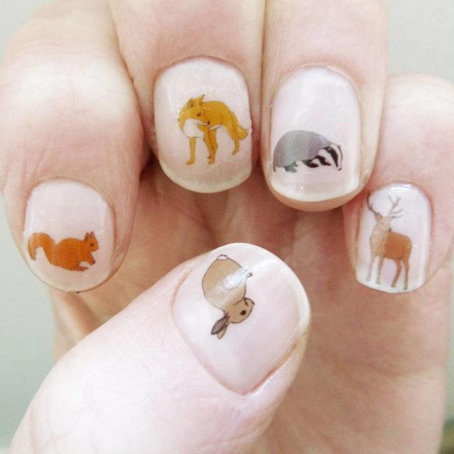 Слайдер дизайн для ногтей Животные.