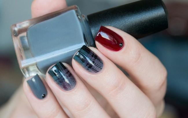 Интересный дизайн ногтей в домашних условиях.