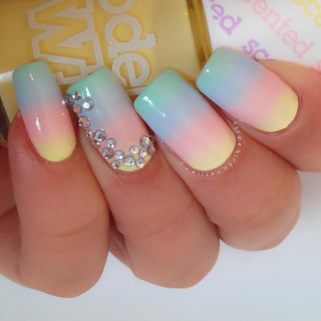 Модные сочетания цветов для дизайна ногтей.