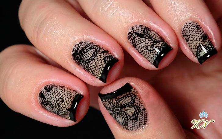 Стемпинг дизайн для ногтей