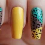 Контрастный леопардовый маникюр