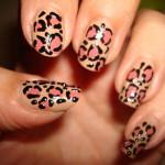 Леопардовый маникюр нейтральных тонов