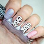 Леопардовый маникюр на нескольких пальцах