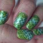 Зеленый змеиный маникюр