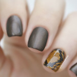 Змеиный дизайн на одном ногте