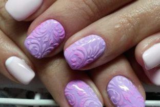 Дизайн ногтей бархатный песок.