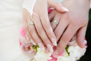 Свадебный дизайн ногтей для невесты.